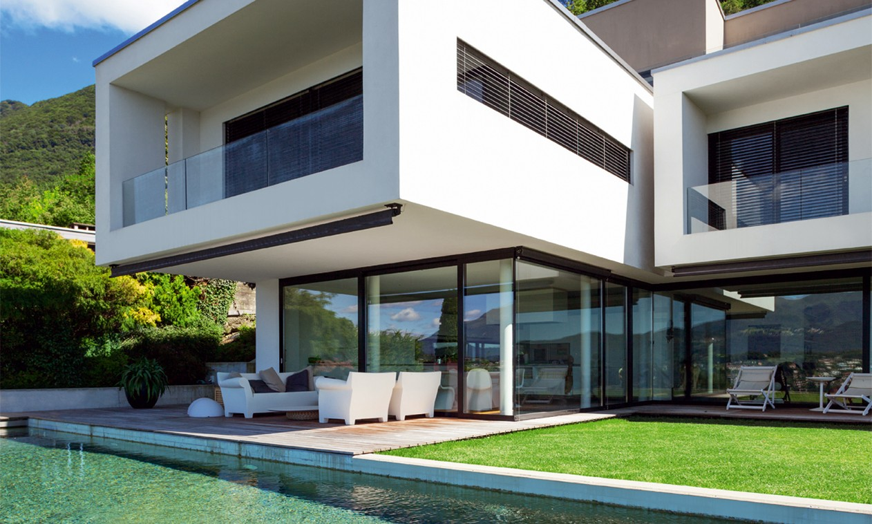üveg passzív ház